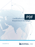 Certification Education Requirement Exceptions FAQ and Application
