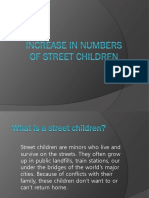 Increase in Numbers of Street Children
