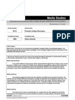 Statement of Intent Form 2018