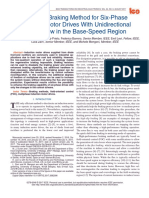 A Simple Braking Method for Six-Phase Induction Motor Drives With Unidirectional Power Flow in the Base-Speed Region