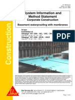 Basement Waterproofing Sikaplan WT
