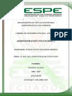Rol Del Administrador Financiero - Cristhian Guaman
