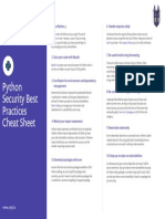 Python Security Best Practices Cheat Sheet