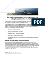 European Commission - Comprehensive EU Safety Legislation for Oil Platforms