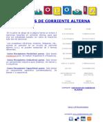 Circuitos de Corriente Alterna. R, L, C, RL, RC y RLC