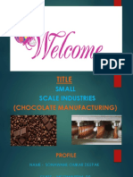 Ppt Chocolate Industry