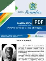 Aplicações Do Teorema de Tales