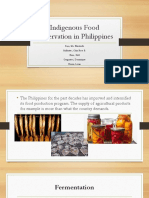 Indigenous Food Preservation in Philippines