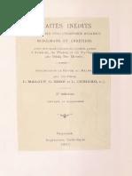 Traités Inédits d'Anciens Philosophes Arabes Musulmans Et Chrétiens