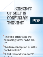 The Concept of Self in Confucian Thoughts