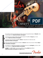 Fender Bass Guitars Manual