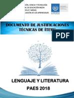 Documento de justificación Lenguaje y Literatura  2018.pdf