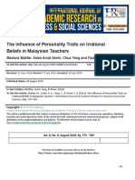 The Influence of Personality Traits on Irrational Beliefs in Malaysian Teachers