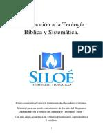 Introducción a La Teología Bíblica y Sistemática