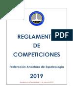 Reglamento Competiciones Espeleología  año 2019.