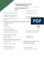 Evaluación Diagnostica Cs.naturales 2015