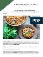 Ricetta Originale Paella Pesce Cozze Gamberi