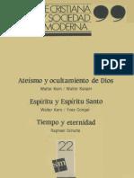 KERN, W. y KASPER, W. (et al), Fe cristiana y sociedad moderna, nº22, 1987.pdf