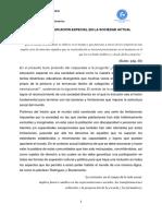 EL SENTIDO DE LA EDUCACIÓN ESPECIAL EN LA SOCIEDAD ACTUAL