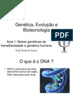 AULA 1 - Bases Geneticas Da Hereditariedade.