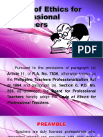 Code of Ethics for Professional Teachers (Final)