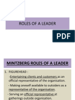 Roles of a Leader
