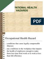 Day 2 Occupational Health Hazards.ppt