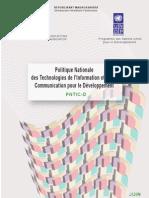 Politique Nationale des Technologies de l'Information et de la Communication pour le Développement (PNTIC-D), (Juin 2005)