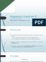 Regresión Lineal en R