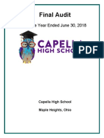 June 2018 Audit of Capella High School in Warrensville Heights