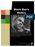 Black Man s History a Speech by Malcolm X
