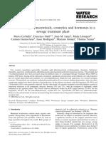 Behavior of pharmaceuticals, cosmetics and hormones in a sewage treatment plant.pdf