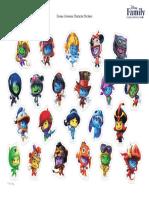 Disney Universe Character Stickers Printable 1011 FDCOM
