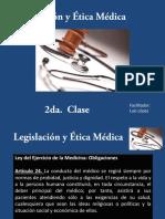 Presentación Legislación y Ética Médica Clase 2