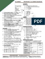 10th Formula Sheet