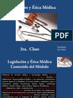 Presentación Legislación y Ética Médica Clase 3