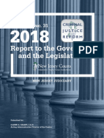 New Jersey Criminal Justice Reform Report 2018