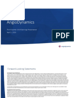 Angiodynamics $ANGO FY19Q3 Earnings Presentation