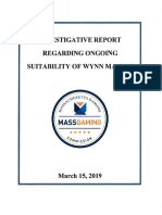 Mass. Gaming Commission Report on Wynn Resorts (Redacted)