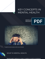 Mental Health- the key concept in mental health