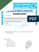 EJERCICO DE ADICIÓN Y SUSTRACCIÓN
