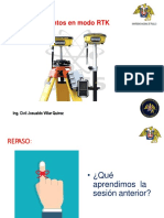 Sesion 9 a Levantamiento Modo RTK