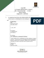 Communication Skills (Bca Semester 1) Assingment 1 & 2
