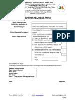 DASA-2018 Refund Request Form