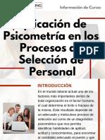Curso de Aplicación de Psicometría en los Procesos de Selección de Personal