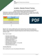 Diameter training plan