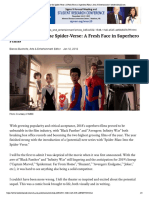 spider-man  into the spider-verse  a fresh face in superhero films   arts   entertainment   westernherald