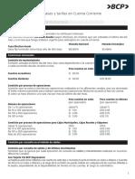 Cartilla Informativa de Tasas y Tarifas en Cuenta Corriente_solo Persona Jurídica