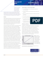 Determination of Fat and Oil Content in Foodstuffs