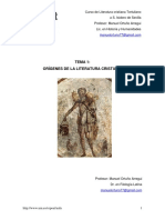 Tema 1. Orígenes de La Literatura Cristiana...